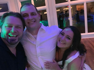 DJ Justin Jaggers with Courtney & Justin Ledbetter at Orion Hill Weddings & Events 11.30.19