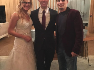 DJ Johnny Fedorenko with Maggie & Daniel Pannell at The Nests BnB and Events 11.2.19