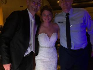 DJ Jimmy Harris with Kellye & Airman Joseph Craig at the Quonset 10.12.19