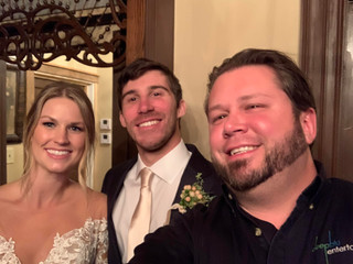 DJ Justin Jaggers with Amy & Jared Smith at Heartwood Hall 10.25.19