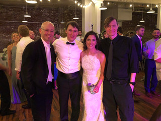 Jimmy & Jonathan with Meghan & Patrick Barry at 409 South Main 8.17.19
