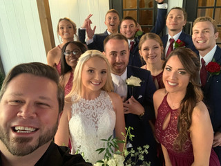 DJ Justin Jaggers with Emily & Kieran Brock (and friends) at The Manor at Mount Carmel 10.12.19