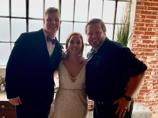 DJ Justin Jaggers with Kelsey & Trevor Wallace at 409 South Main 10.5.19