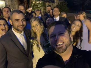 DJ Justin Jaggers with Laurel & Mike O'Neal and friends at Heartwood Hall 10.13.19