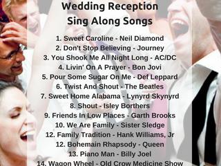 Top 20 Wedding Reception Sing Along Songs