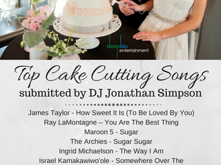 DJ Jonathan Simpson's Top Cake Cutting Songs