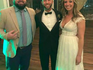 DJ Blake Brady with Mamie & Kyle Krebs at 409 South Main 11.1.19