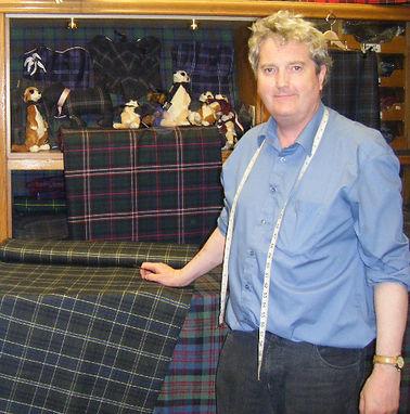 Kiltmaker, Ken MacDonald designed a special kilt in honour of Astronaut, Dick Gordon's Walk With Destiny visit to Scotland in 2012