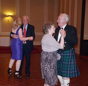 """Apollo 15 Astronaut, Al Worden dances with With Waith Destiny Founder, Aileen Malone to frank Sinatra song """"Fly Me To The Moon"""""""