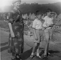 Bill visiting Millport as a young boy with his Granny O'Donnell and cousin Charles.