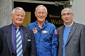 Apollo 16 Astronaut, Charlie Duke, visited New Wellwynd Parish Church in Airdrie, Scotland at his Walk With Destiny event in 2010