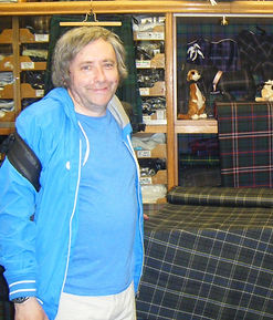 Robert Law becomes the owner of the world's first Apollo 12 Tartan Kilt after winning the auction at the Walk With Destiny event 2012
