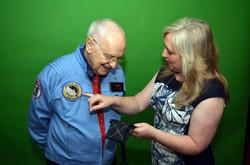 Alan Bean receives the Apollo 12 tartan.jpg