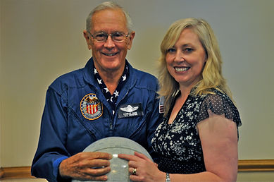 Walk With Destiny Founder, Aileen Malone, with Apollo Astronaut Charlie duke