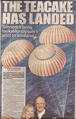 The Teacake has Landed, Tunnocks Supports Walk With Destiny in bringing Apollo Astronauts to Scotland
