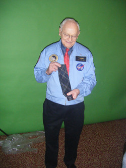 Alan Bean, Apollo 12 Astronaut, Presented with an Apollo 12 Tartan Tie by walk With Destiny Founder,