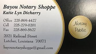 2019 DFAC - Bayou Notary Shoppe - Logo.J
