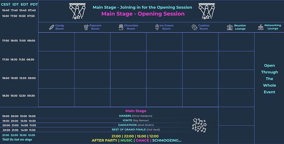 Kinnernet 2020 Online Festival Schedule