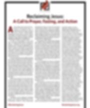 Reclaiming Jesus printed Statement