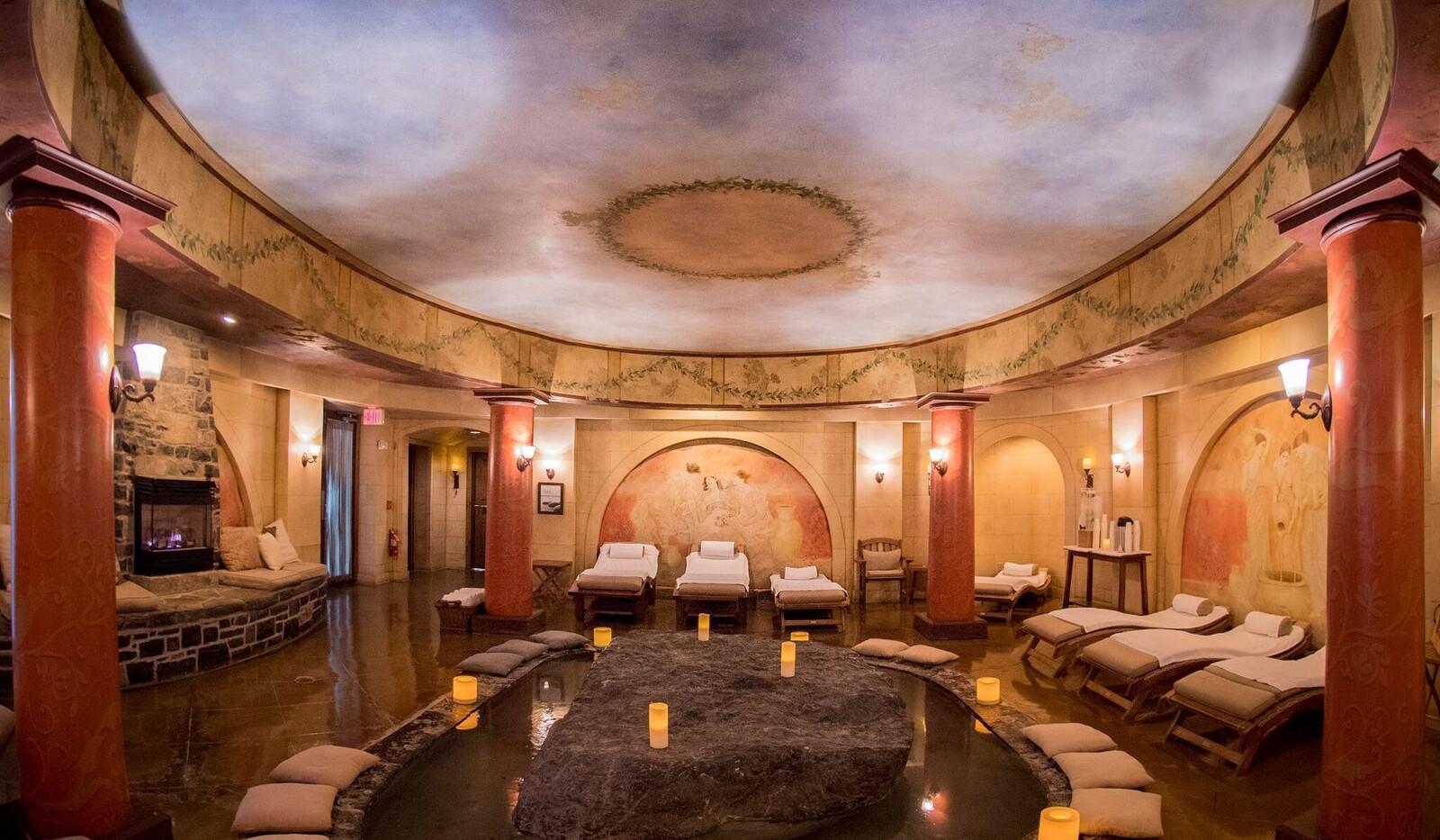 Resting Area Fireplace Mirbeau Inn & Spa _Ramsgard