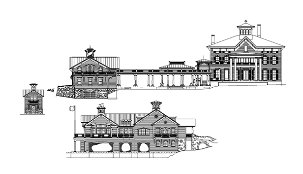 DrawingSkaneateles Boat house Arts & Crafts_Ramsgard