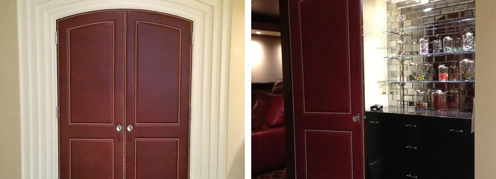 theater door leather  Italianate Estate _Ramsgard