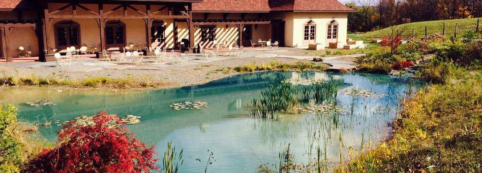 Exterior Pond Elevation Magnus Ridge Winery_Ramsgard