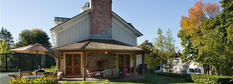 Side Porch Carriage House Barn Skaneateles_Ramsgard