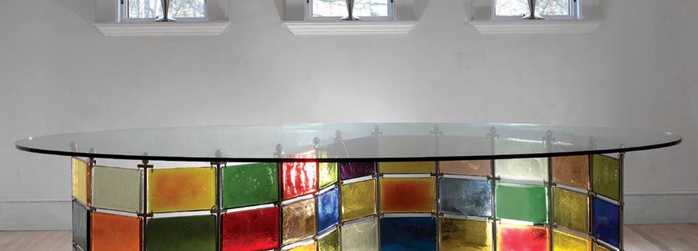 Kaleidoscope Table Unique Colorful Glass_Ramsgard