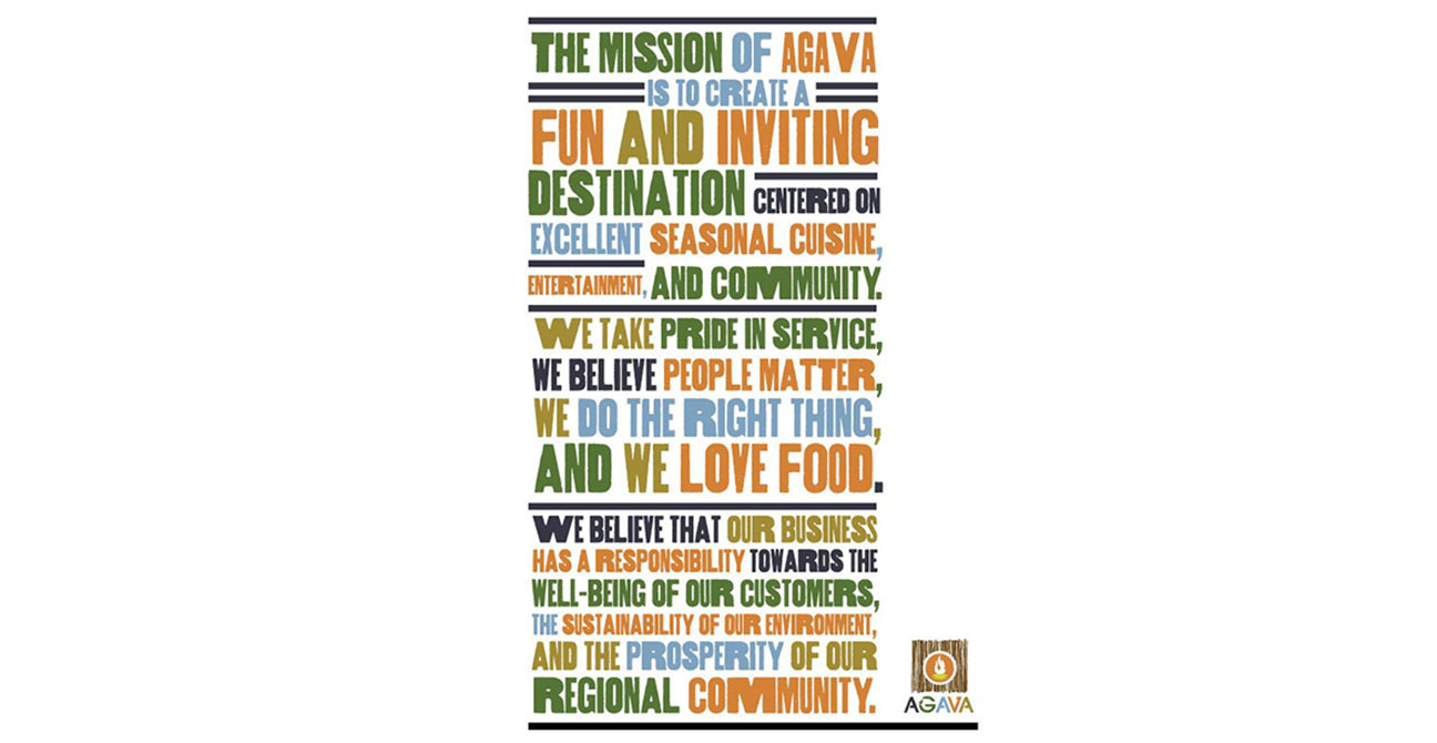 Mission Statement Chef Agava Restaurant-Ithaca-sign-ramsgard