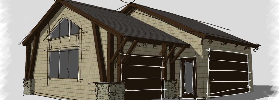 Garage sketch arts and crafts skaneateles_Ramsgard