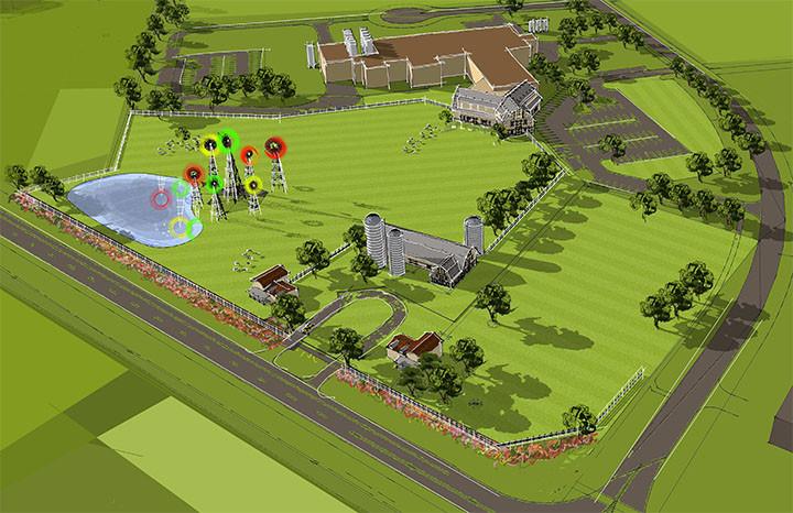 Site Rendering Bryne Agro Tourism Center_Ramsgard