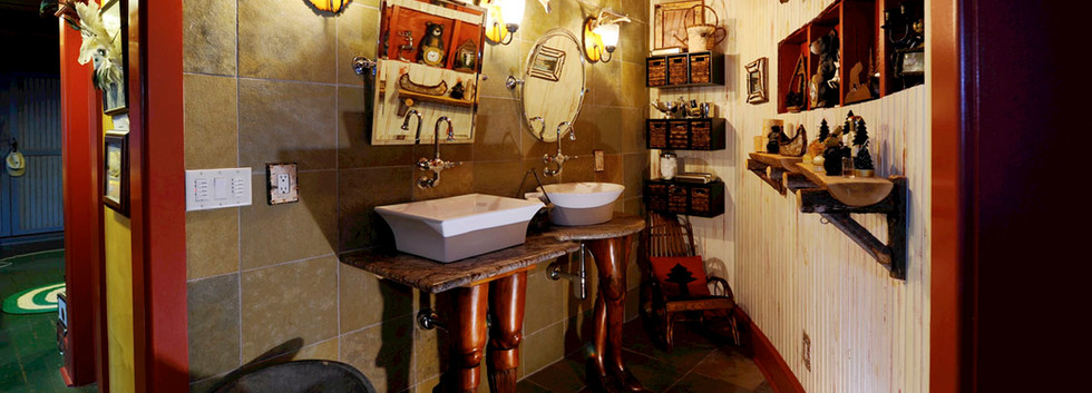 His & Hers custom sinks with carved legs_Ramsgard