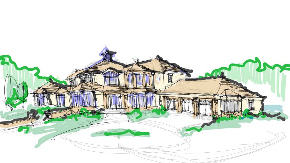 Italianate Elevation grand estate skaneatles _Ramsgard