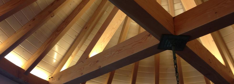 Timber frame Snooks Hollow Retreat LEED Platinum_Ramsgard