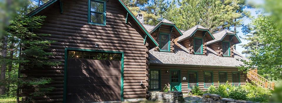 bear run log lodge adirondack garage_Ramsgard