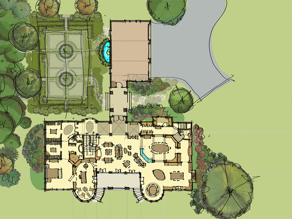 Site PlanSketch Italianate Skaneatleles _Ramsgard