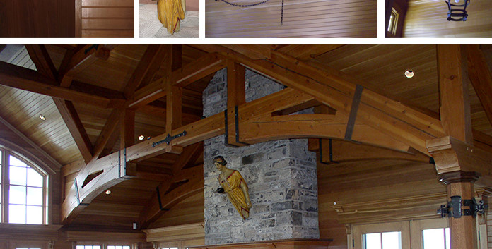 Living Room Skaneateles Boat house Arts & Crafts_Ramsgard