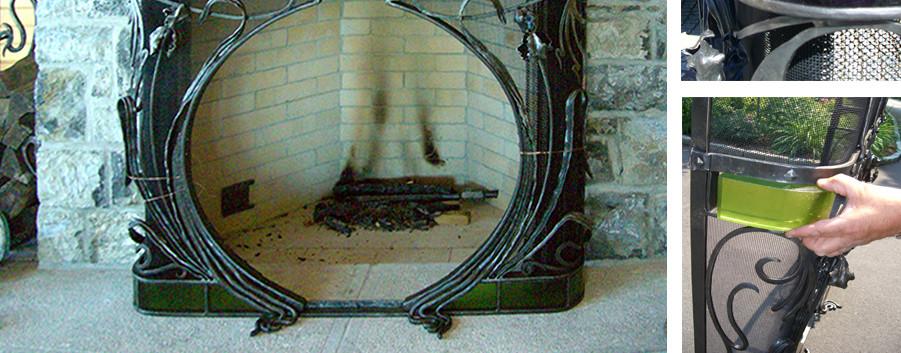 Fireplace Skaneateles Boat house Arts & Crafts_Ramsgard
