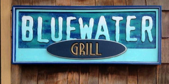 SIgn Blue Water Restaurant Skaneateles Lake_Ramsgard