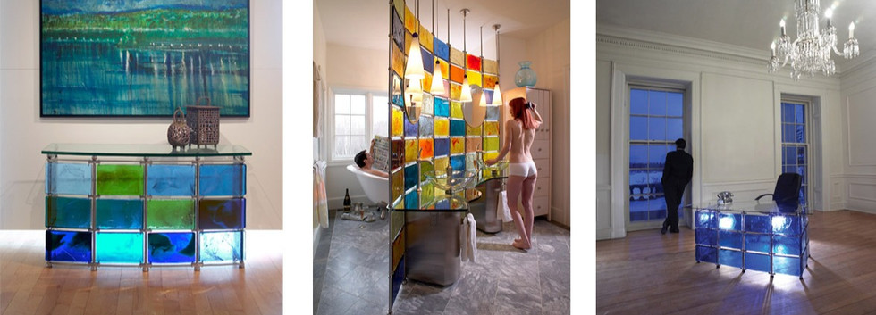 Colorful Glass Modern modular furniture_Ramsgard