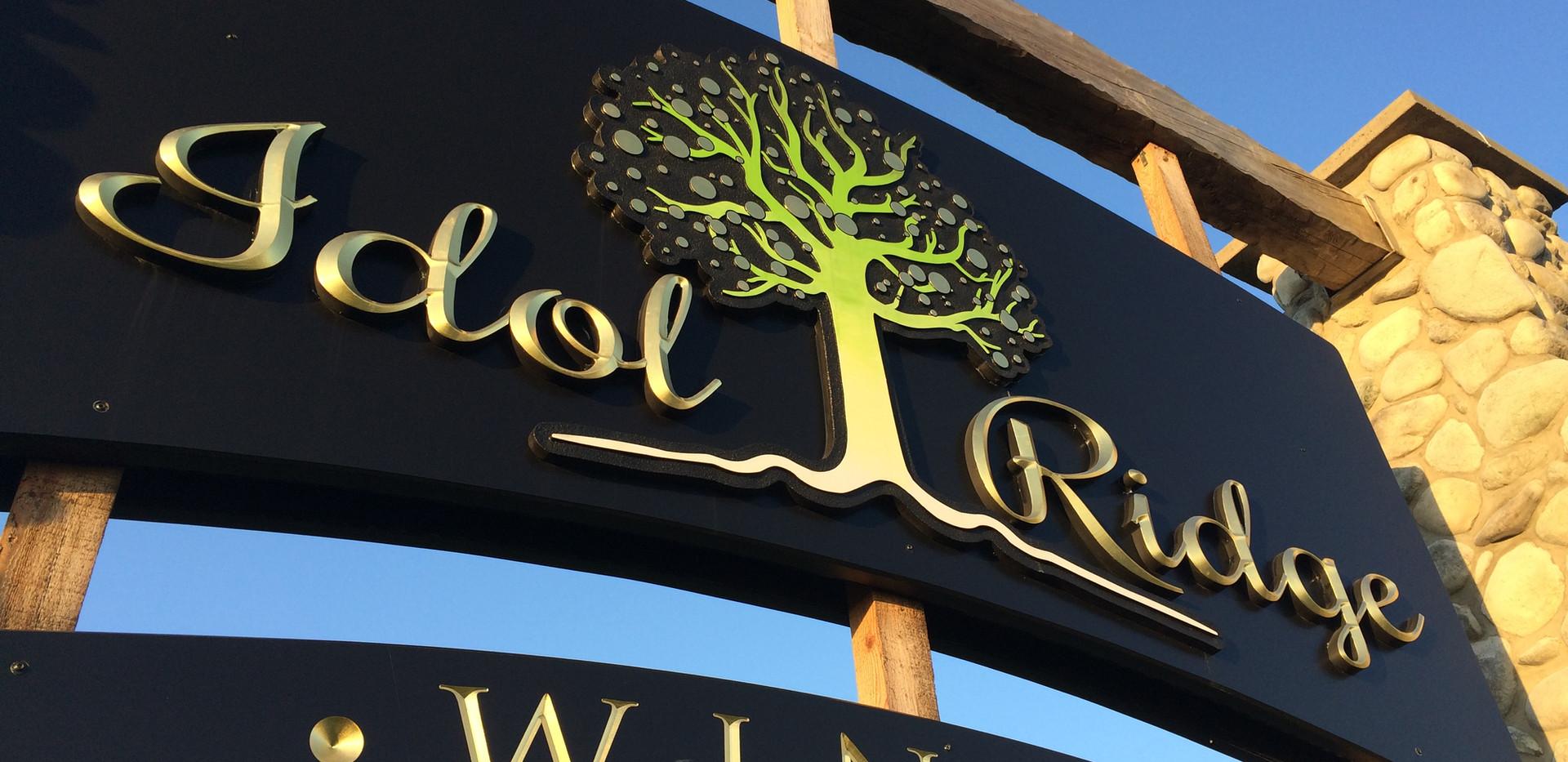 Sign Idol Ridge Winery Lodi_Ramsgard
