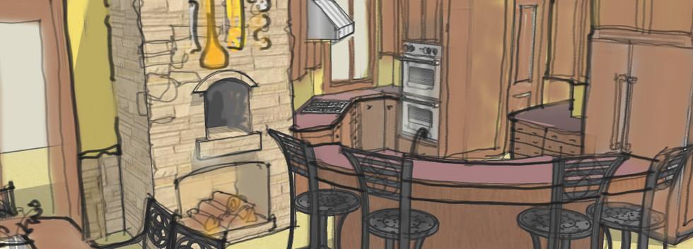 Kitchen Sketch_Ramsgard