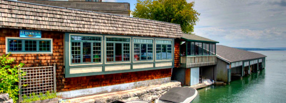 Exterior SIgn Blue Water Restaurant Skaneateles Lake_Ramsgard