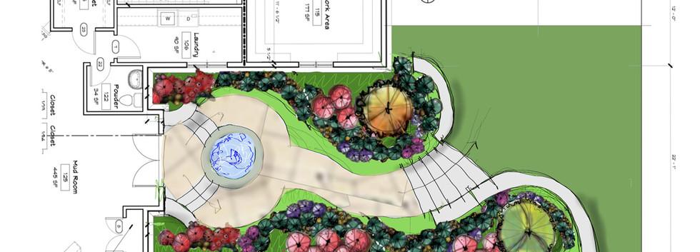 Walkway fountain Site Development _Ramsgard