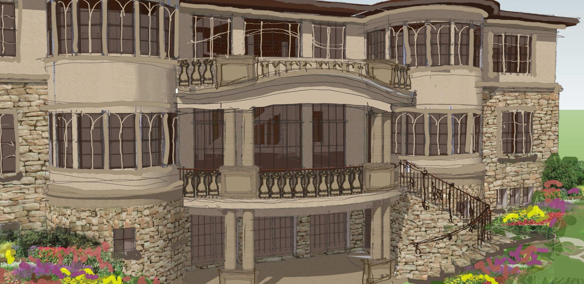 Sketch Italianate Skaneatleles _Ramsgard