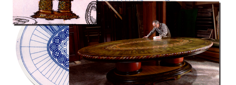 Camelot Inlaid Dining Table_Ramsgard