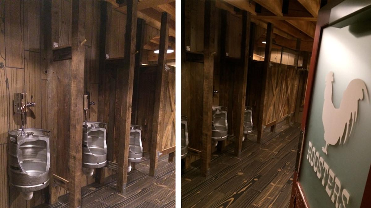 Red Rooster Keg Urinals restroom_Ramsgard