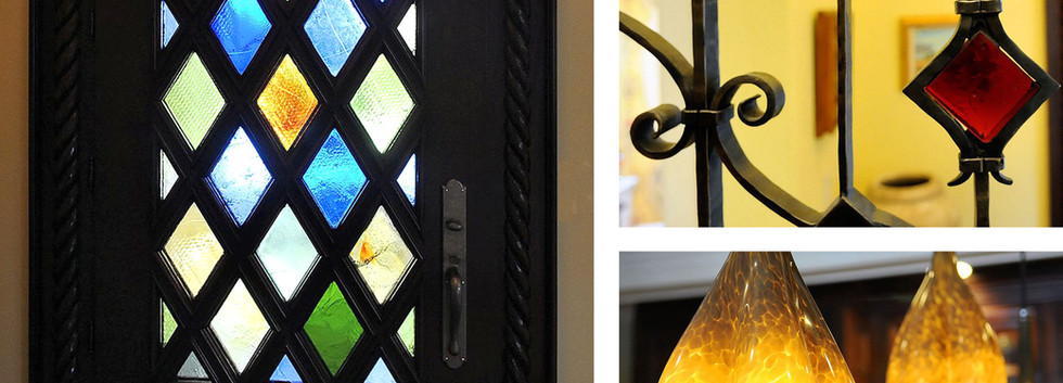 Stained glass door Railing French Country_Ramsgard