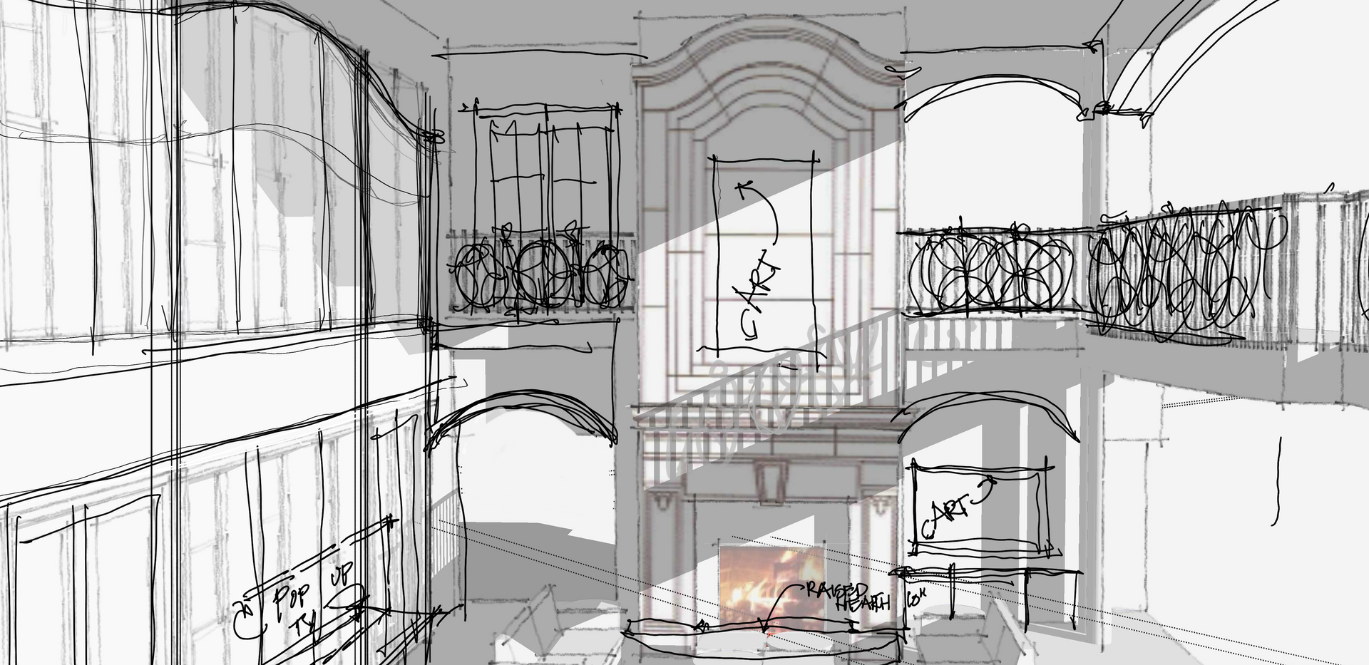 living room fire placeSketch Italianate Skaneatleles _Ramsgard.tif